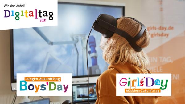 Mädchen mit VR-Brille