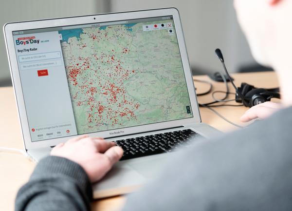 Laptop mit Boys'Day-Radar