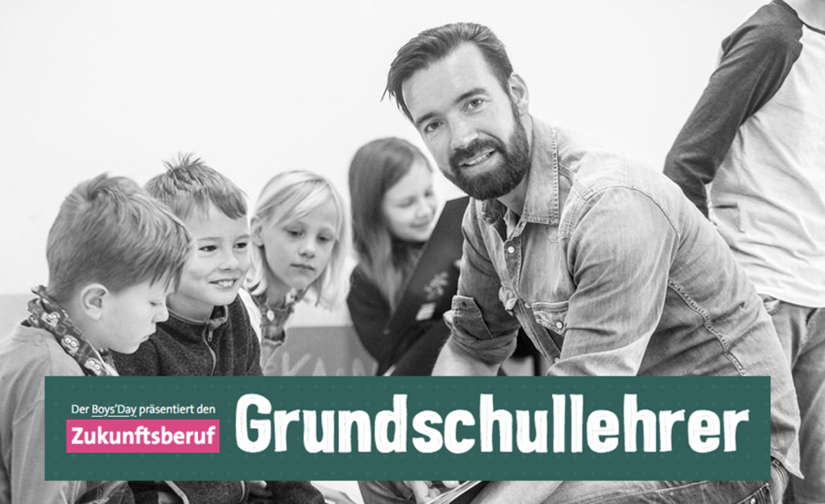 Screenshot der Website Zukunftsberuf Grundschullehrer