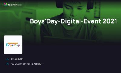 Screenshot von der Website zm Boys'Day-Digital-Event