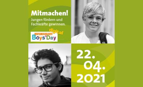 Grafik zum Boys'Day digital