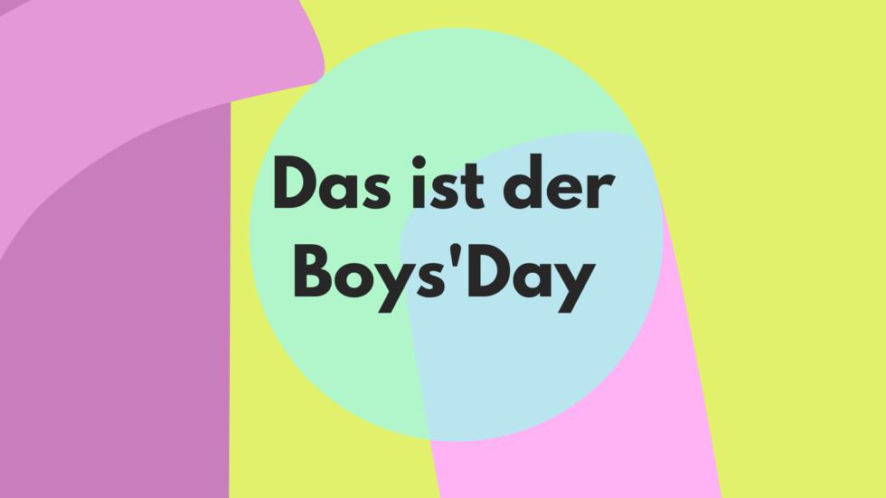 Grafik Das ist der Boys'Day