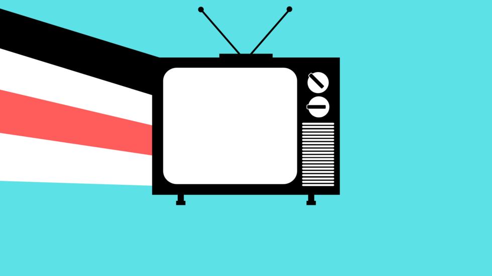 Grafik mit Fernseher