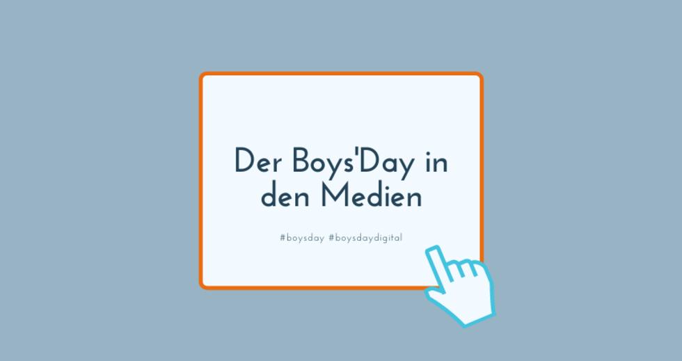 Grafik zum Boys'Day in den Medien