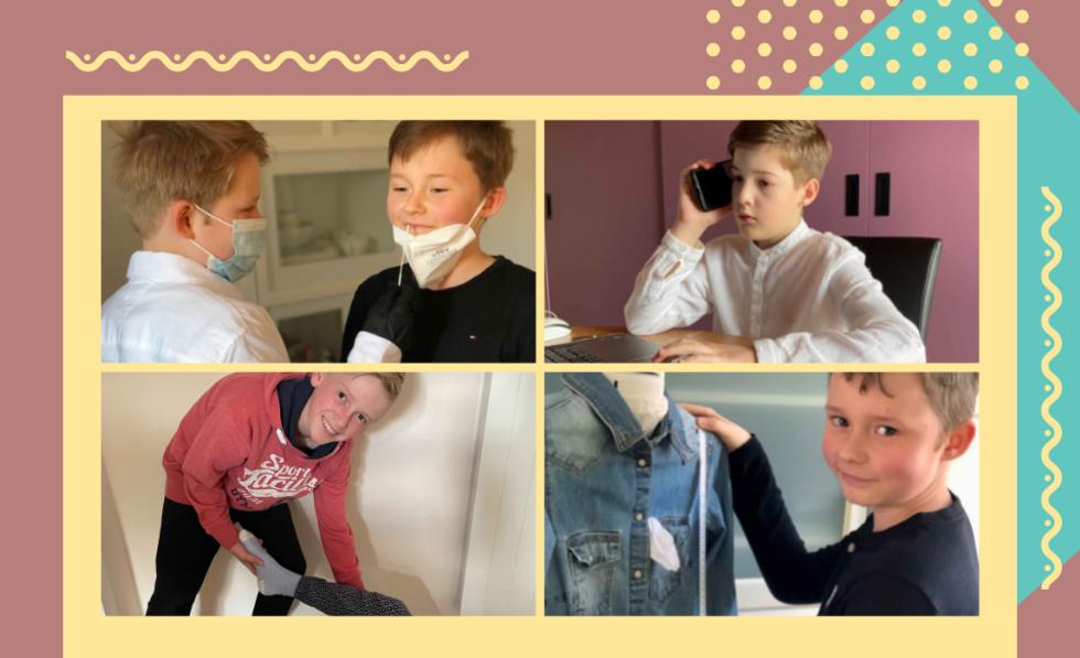 Grafik mit Gewinnerfotos des Boys'Day-Wettbewerbs