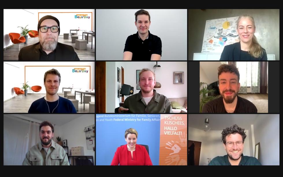 Screenshot der Talkrunde zum Boys'Day digital