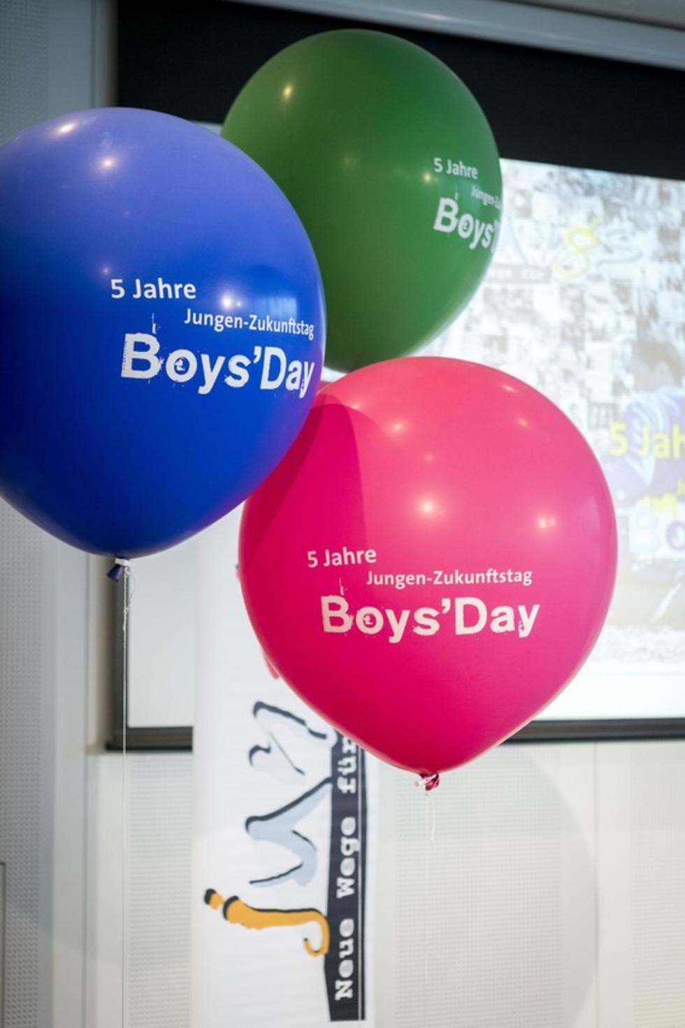 Ballons mit Boys'Day-Aufschrift